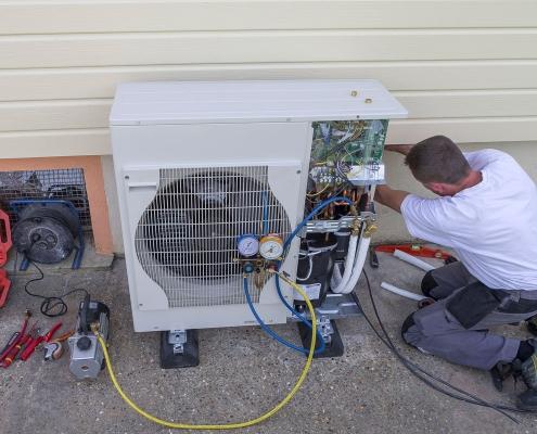 Installation d'une pompe à chaleur air-air